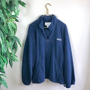 Vintage • Detroit Pistons Half-Zip Pullover.